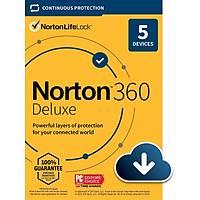 NORTON 360 DELUXE 2021 5 KULLANICI 1 YIL (50 GB BULUT DEPOLAMA ÝÇERÝR)