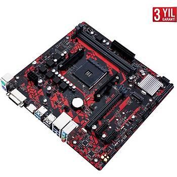 Asus B450M DRAGON 4400MHz(OC) DDR4 Soket AM4 M.2 HDMI DVI mATX Anakart