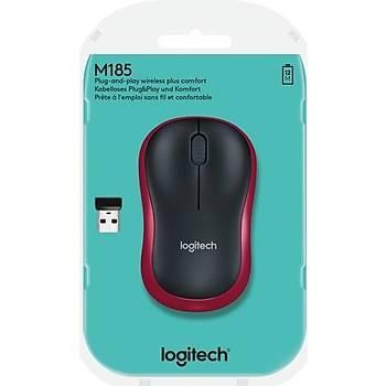 Logitech M185 Kablosuz Mouse - Kýrmýzý
