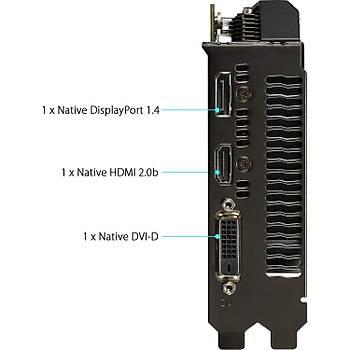 Asus Dual GeForce GTX 1660 Super Mini OC 6GB 192Bit GDDR6 DX12 PCI-Express 3.0 Ekran Kartý (DUAL-GTX1660S-O6G-MINI)