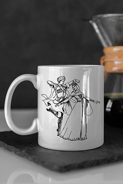 Kafkas Figürlü Kahve Kupa Bardaðý