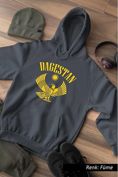 Daðýstan Logo Kafkas Unisex Kapüþonlu Sweatshirt