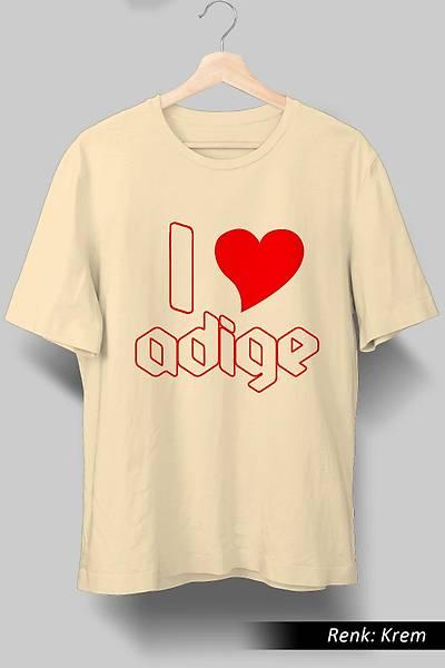 I Love Adige Unisex Tiþört