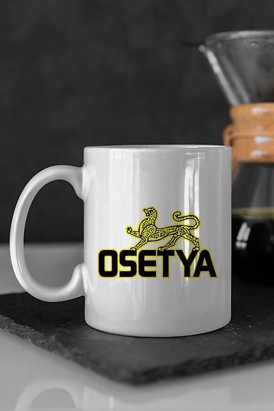 Osetya Pars Seramik Renkli Kahve Kupalarý