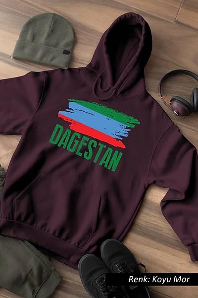 Dagestan Bayraðý Kafkas Unisex Kapüþonlu Sweatshirt