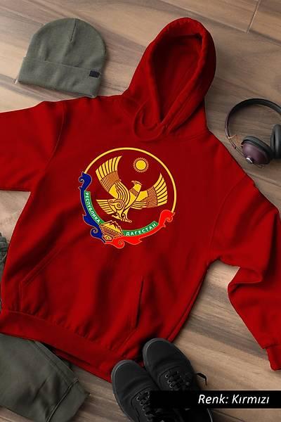 Dagestan Logo Kafkas Unisex Kapüþonlu Sweatshirt