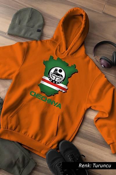 Chechnya Unisex Kapüþonlu Sweatshirt