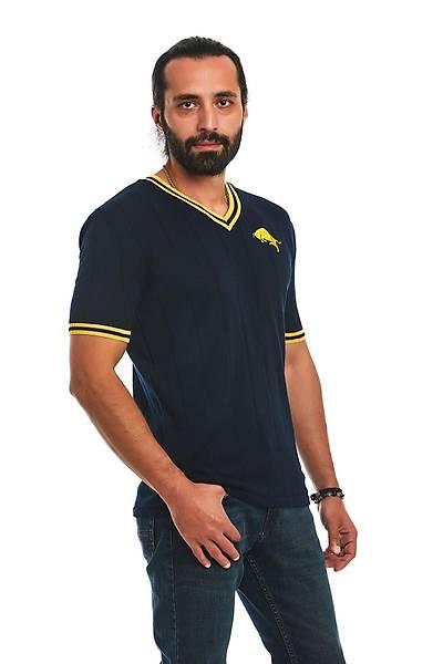Erkek Lacivert Triko T-Shirt