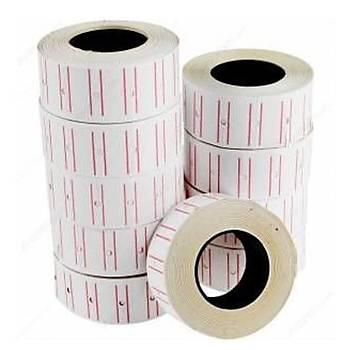 Tanex Fiyat Etiketi Çizgili 12 mm X 21 mm 24'lü Avantaj Paket Beyaz