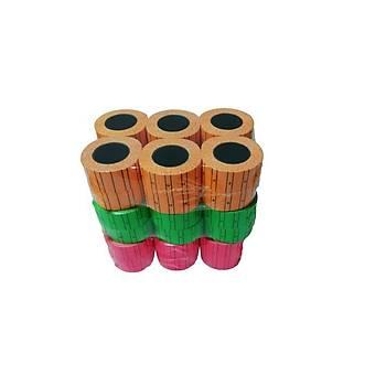 Sewtex Tanex Meto makinesi etiketleme için Fiyat etiketi 36 rulo 3 farklý Renk (21mmX12mm)
