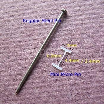 4.4 MM Micro Fine Kýsa Seffaf Plastik Kýlçýk 10.000 Adet (Kuaför-Takým Elbise-Gelinlikçiler)