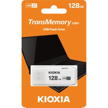 128GB USB3.2 GEN1 KIOXIA BEYAZ USB BELLEK LU301W128GG4