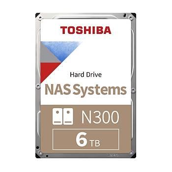 6TB TOSHIBA N300 7200RPM SATA3 NAS 128MB HDWN160UZSVA