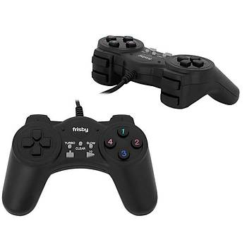 FRISBY FGP-215U USB GAME PAD SÝYAH