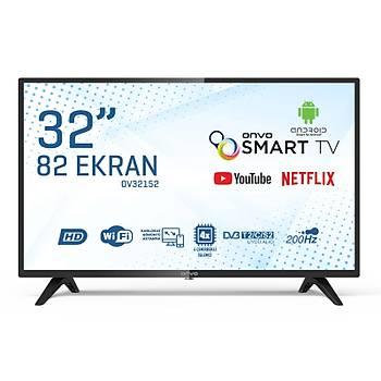"ONVO OV32152 32"" UYDU ALICILI ANDROÝD SMART LED TV"