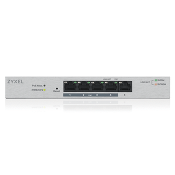 ZYXEL GS1200-5HP 5PORT GIGABIT WEB YÖNETÝLÝR 4PORT POE SWITCH