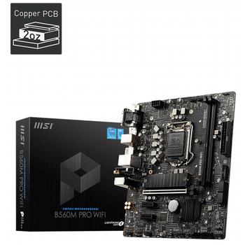 MSI B560M PRO WIFI DDR4 5066(OC)Mhz HDMI M.2 mATX 1200P