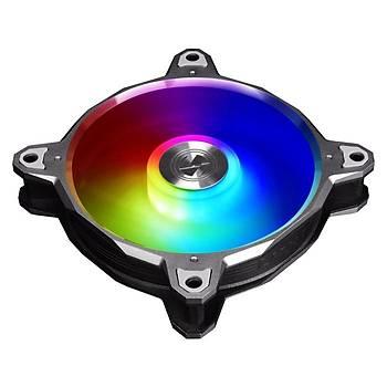 LIAN LI BORA DIGITAL S.GREY 3X120MM RGB KASA FANI