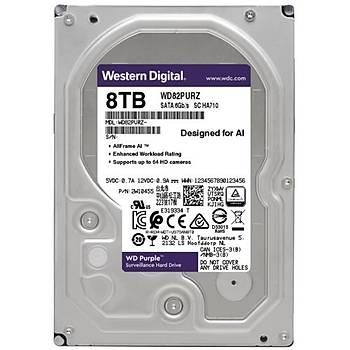 8TB WD Purple SATA 6Gb/s 256MB DV 7x24 WD82PURZ