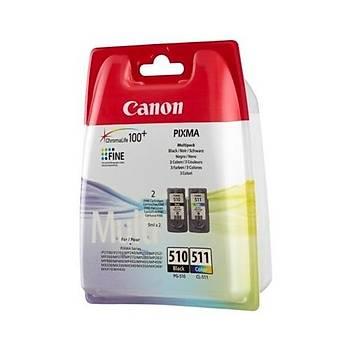 CANON PG510BK+CL511 2'LÝ KARTUÞ (MP240/MP260)