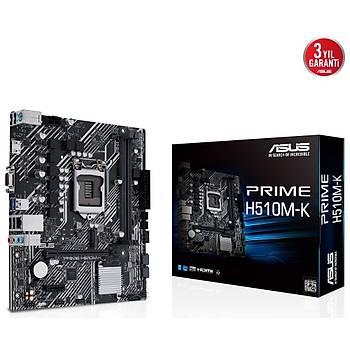 ASUS PRIME H510M-K 3200(OC) DDR4 mATX 1200p