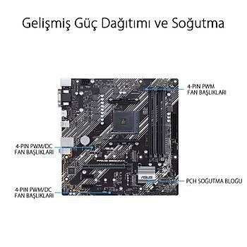 ASUS PRIME B550M-K DDR4 4600(O.C)/2133Mhz mATX AM4