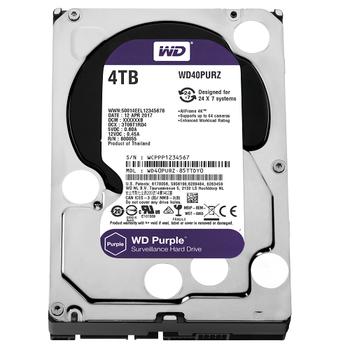 4TB WD Purple SATA 6Gb/s 64MB DV 7x24 WD40PURZ