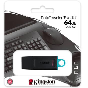 64GB USB3.2 Gen1 DTX/64GB Exodia KINGSTON