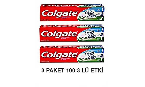 Colgate üçlü etki 100 ml diþ macunu - 3 adet