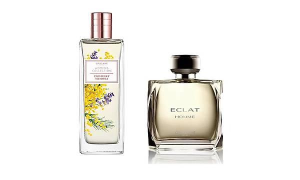 Oriflame Women's Collection Powder Mimosa EDT + Eclat Homme EDT Parfüm Seti