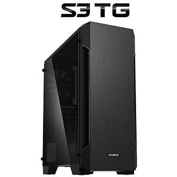 Zalman S3 TG Mid Tower Kasa Siyah PSU YOK