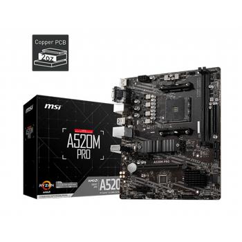 MSI A520M PRO DDR4 4600/1866Mhz M.2 M.ATX AM4