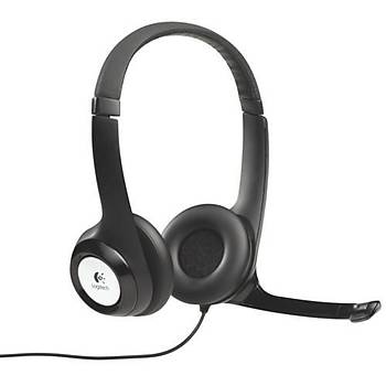 Logitech H390 Mikrofonlu Kulaklýk Siyah 981-000406
