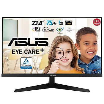 23.8 ASUS VY249HE FHD IPS 1MS 75HZ HDMI