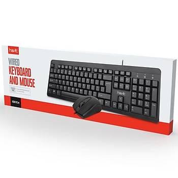 Havit KB611CM Kablolu Klavye Mouse Set Siyah