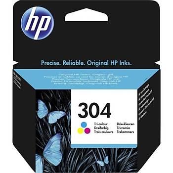 HP N9K05AE (304) ÜÇ RENKLÝ MÜREKKEP KARTUÞU 100 SAYFA 2630-2632