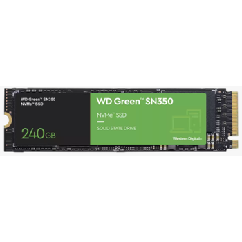 240GB WD GREEN SN350 M.2 NVMe 2400/900MB/s WDS240G2G0C SSD