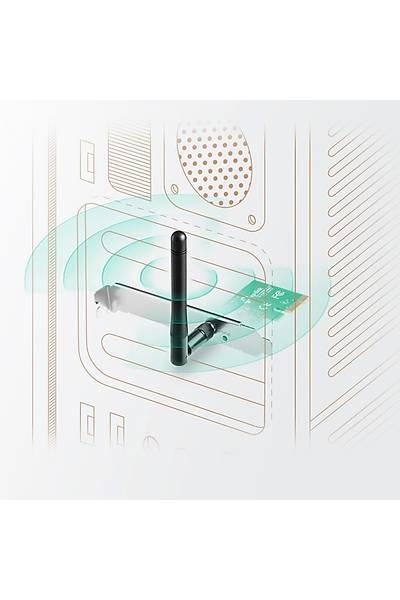 TP-LINK TL-WN781ND 150Mbps 2dBi KABLOSUZ PCI KART