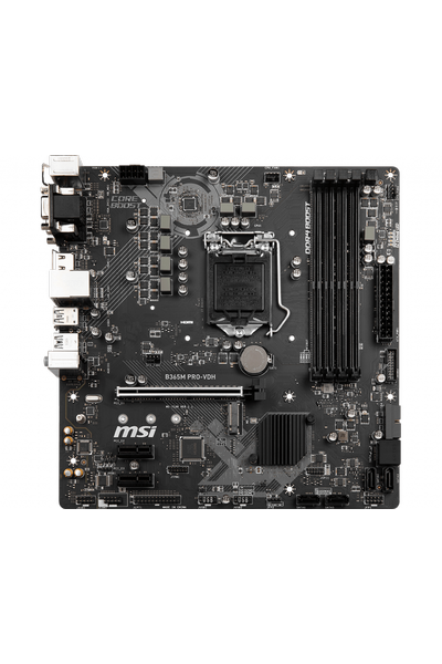 MSI B365M PRO-VDH DDR4 2666 DVI HDMI USB3.1 mATX