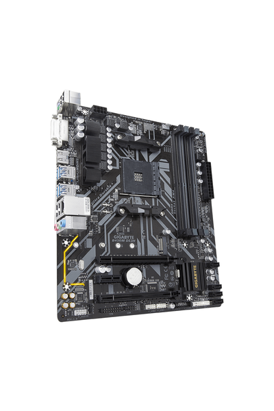 GIGABYTE B450M-DS3H DDR4 3600(O.C.) / 2133 MHz HDMI DVI AM4