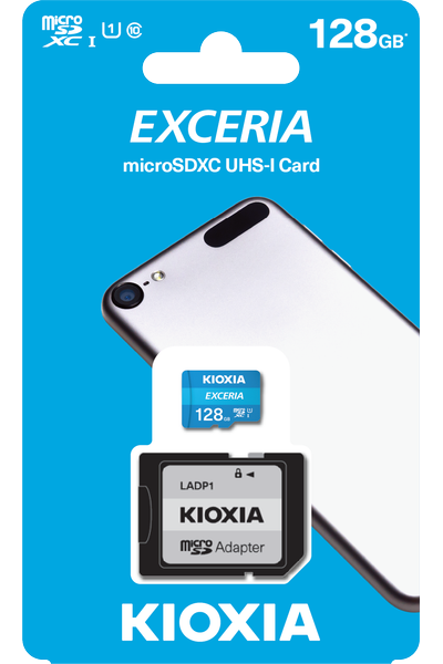 128GB MICRO SDHC C10 100MB/s KIOXIA LMEX1L128GG2