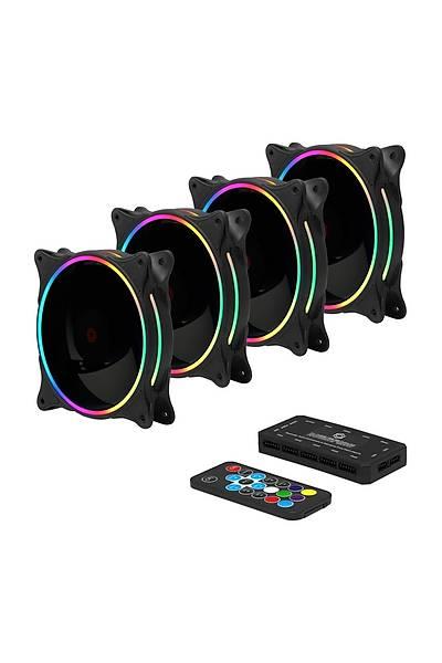 FRISBY FCL-F1264B 4x120MM DOUBLE RGB  KASA FANI