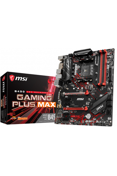 MSI B450 GAMING PLUS MAX AM4 DDR4 3466(OC)DVI HDMI USB3.2 ATX