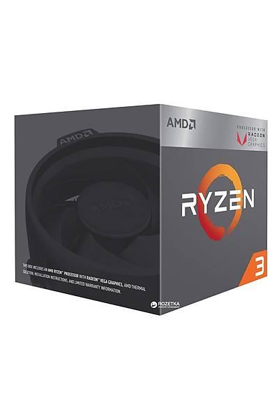 AMD RYZEN 3 2200G Soket AM4 3.5GHz 6MB 65W 4 Çekirdek Vega 8 GPU