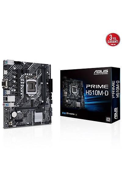 Asus Prime H510M-D 1200P Vga Hdmi Usb3.2