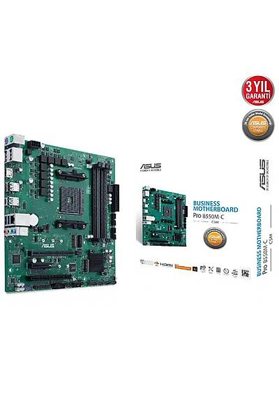 Asus Pro B550M-C/Csm AM4 Ryzen D4 Hdmi Dp Usb3.2