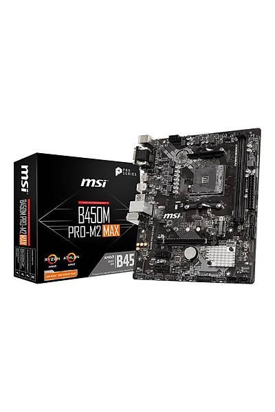 MSI B450M Pro-M2 Max AM4 Ryzen DDR4 Vga Dvi-D Hdmi