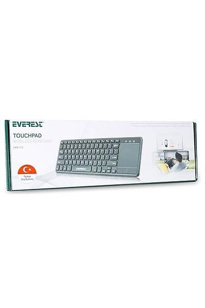Everest EKW-155 Siyah Kablosuz Klavye + TouchPad