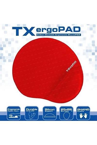 TX TXACMPAD01RD ErgoPad Bilek Destekli Mouse Pad-K