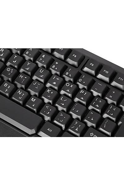 Everest KB-700 Siyah USB Arabic-US layout Multimed